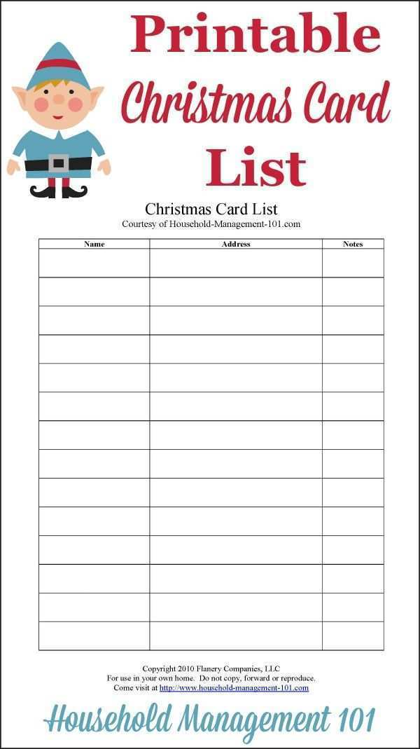 95 Format Christmas Card List Template Google Docs in Word for Christmas Card List Template Google Docs