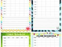 95 Free Printable Best Class Schedule Template Download by Best Class Schedule Template