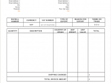 Invoice Template With Vat And Cis Deduction