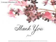 Reception Thank You Card Template