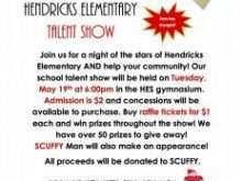 95 How To Create School Talent Show Flyer Template For Free with School Talent Show Flyer Template