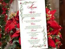 95 Online Christmas Menu Card Template Free With Stunning Design for Christmas Menu Card Template Free