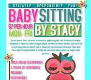 95 Printable Babysitter Flyers Template Templates by Babysitter Flyers Template