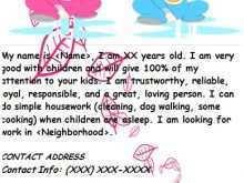 95 Printable Babysitting Flyer Templates Templates with Babysitting Flyer Templates
