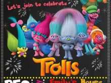 Trolls Birthday Card Template