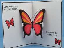 95 Visiting Pop Up Card Butterfly Template Layouts by Pop Up Card Butterfly Template