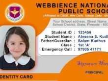 96 Best Student Id Card Template Vector For Free by Student Id Card Template Vector