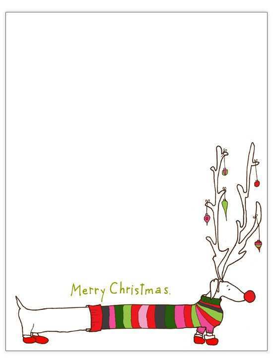 96 Creative Christmas Card Template Dog Formating by Christmas Card Template Dog