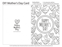96 Creative Mother S Day Card Templates To Colour in Photoshop with Mother S Day Card Templates To Colour