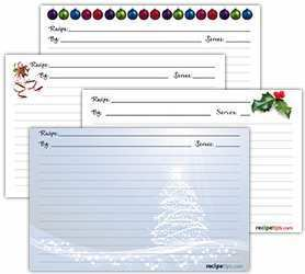 96 Customize Our Free Christmas Recipe Card Templates With Stunning Design for Christmas Recipe Card Templates