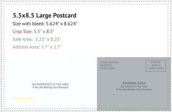 96 Format 8 X 5 Postcard Template For Free with 8 X 5 Postcard Template