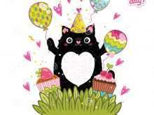 96 Format Birthday Card Template Cat Now by Birthday Card Template Cat