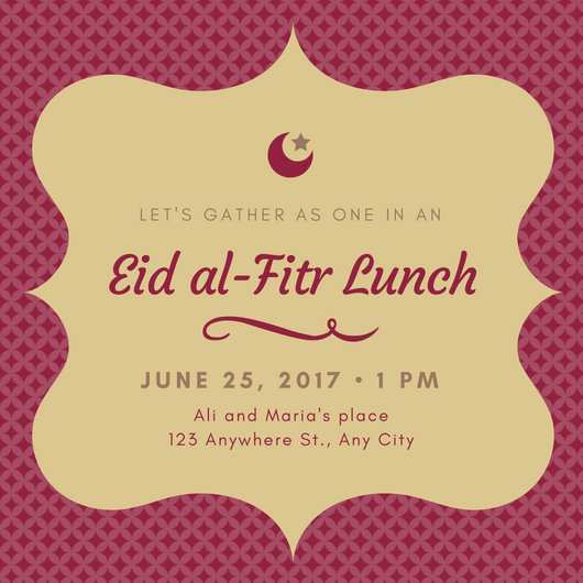 96 Free Eid Invitation Card Templates For Free with Eid Invitation Card Templates