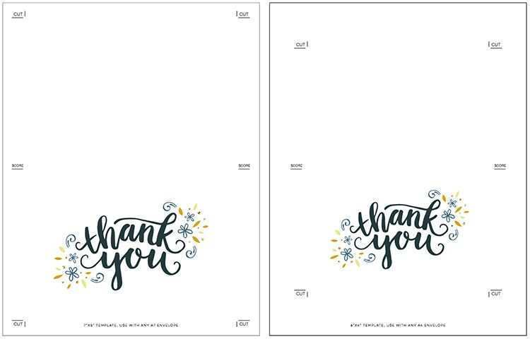Free Printable Thank You Card Template Word - Cards Design ...
