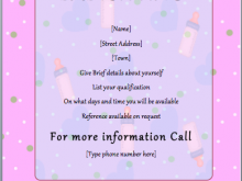 96 How To Create Babysitter Flyers Template Formating for Babysitter Flyers Template