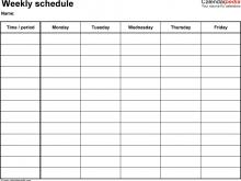 96 How To Create Class Schedule Template Pdf Formating by Class Schedule Template Pdf