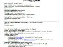 Event Meeting Agenda Template
