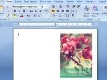 How To Set Up Card Template In Word
