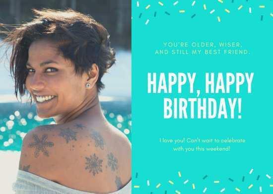 96 Standard Birthday Card Template Canva Photo with Birthday Card Template Canva