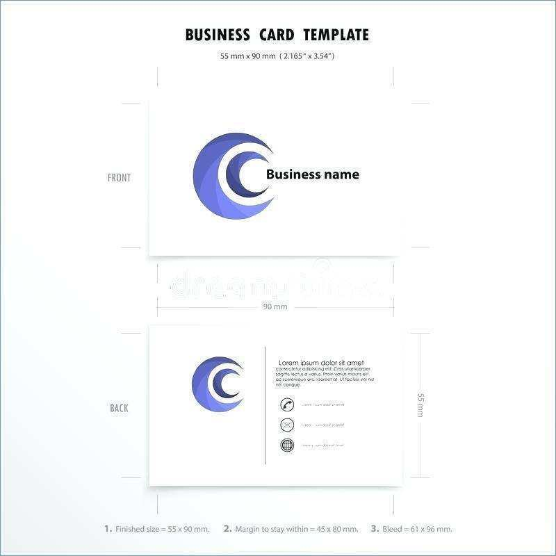96 Standard Business Card Template 90X55 Download for Business Card Template 90X55