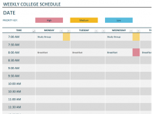 96 Standard Hourly Class Schedule Template With Stunning Design with Hourly Class Schedule Template