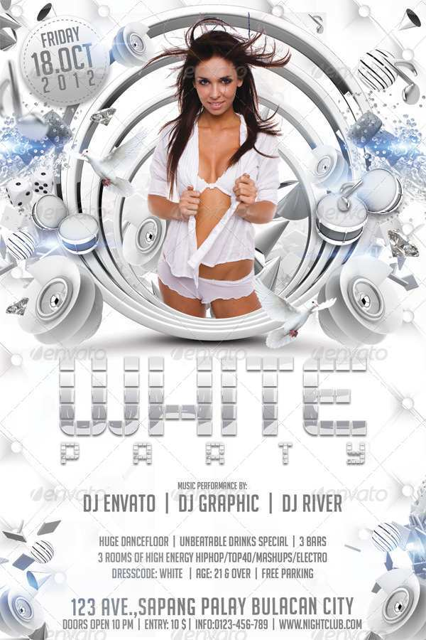 96 The Best All White Party Flyer Template Free Templates for All White Party Flyer Template Free