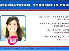 Student Id Card Template Free Download Word