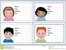 97 Blank Child Name Card Template Layouts with Child Name Card Template