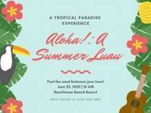 Luau Flyer Template