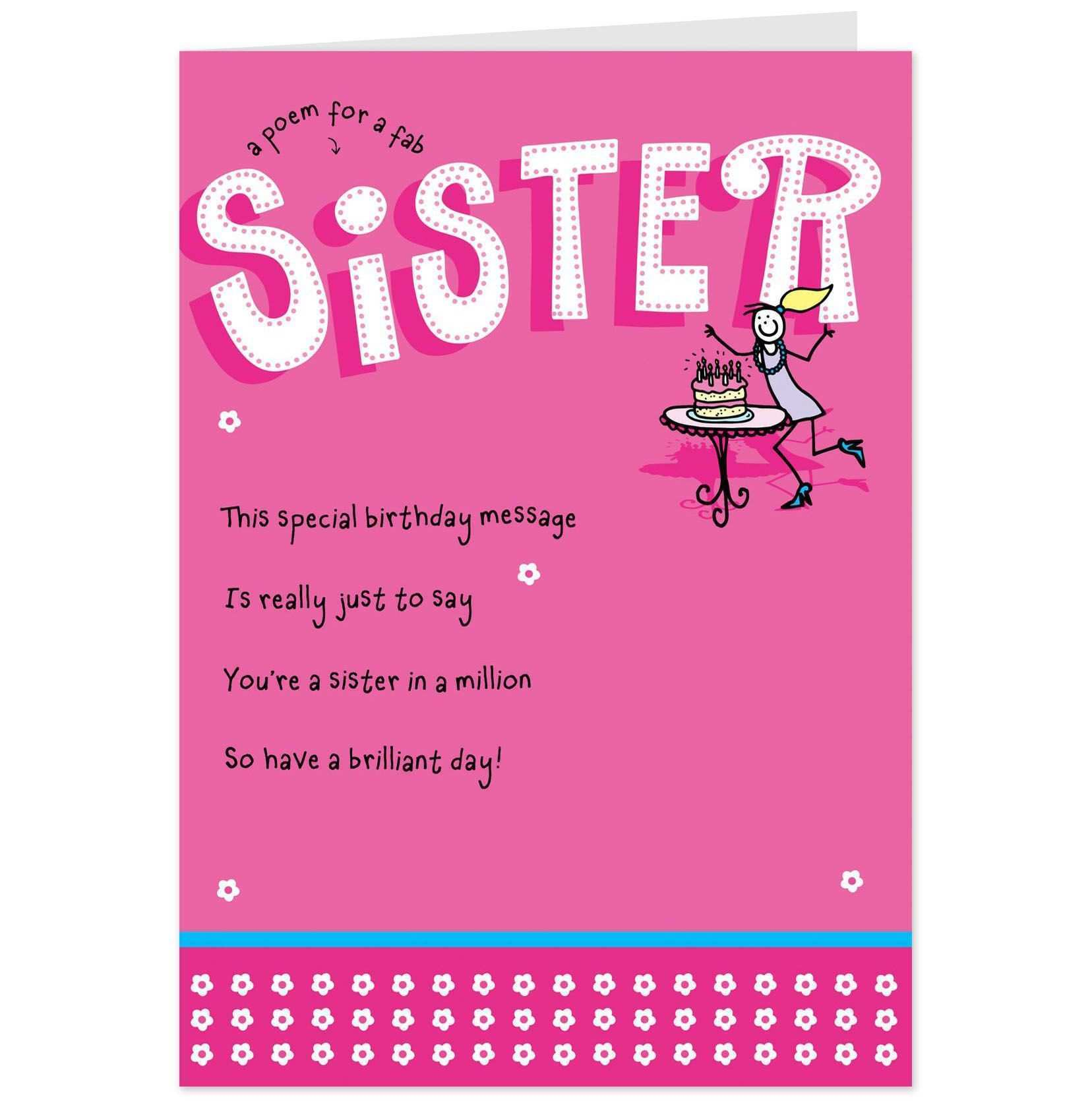 97 Create Birthday Card Template For Sister Now by Birthday Card Template For Sister