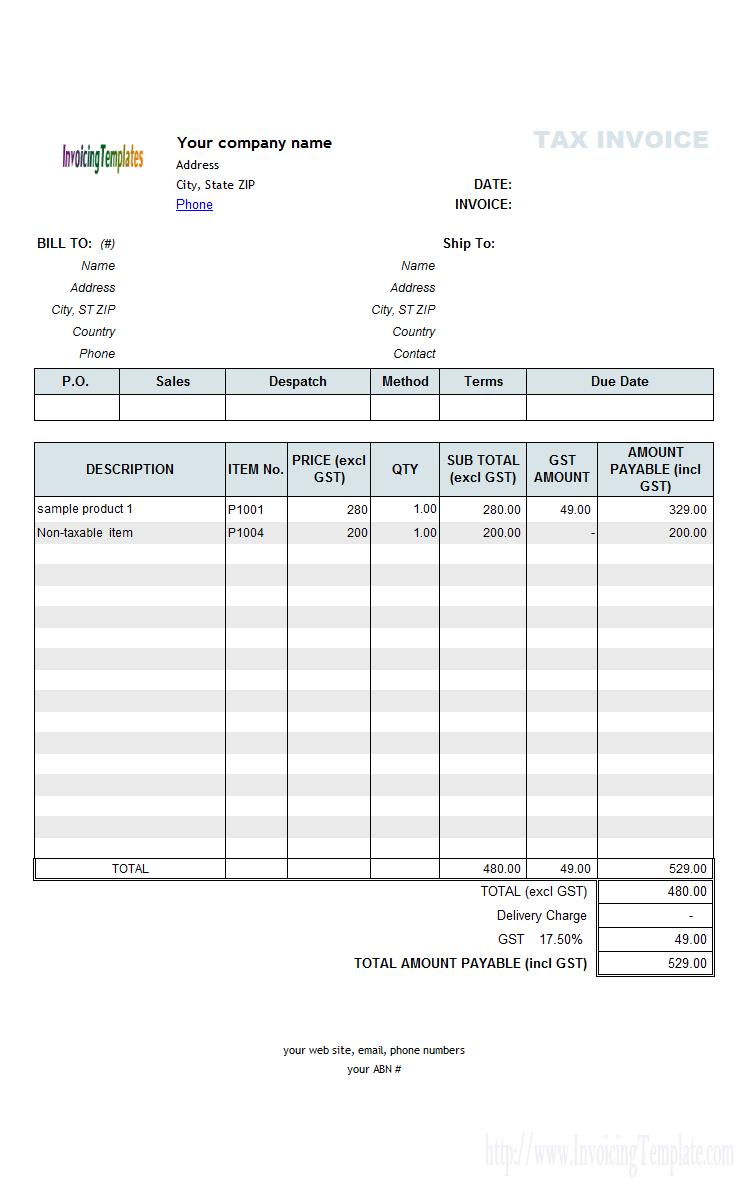 97 Creative Australian Tax Invoice Template No Gst For Free With Australian Tax Invoice Template No Gst Cards Design Templates