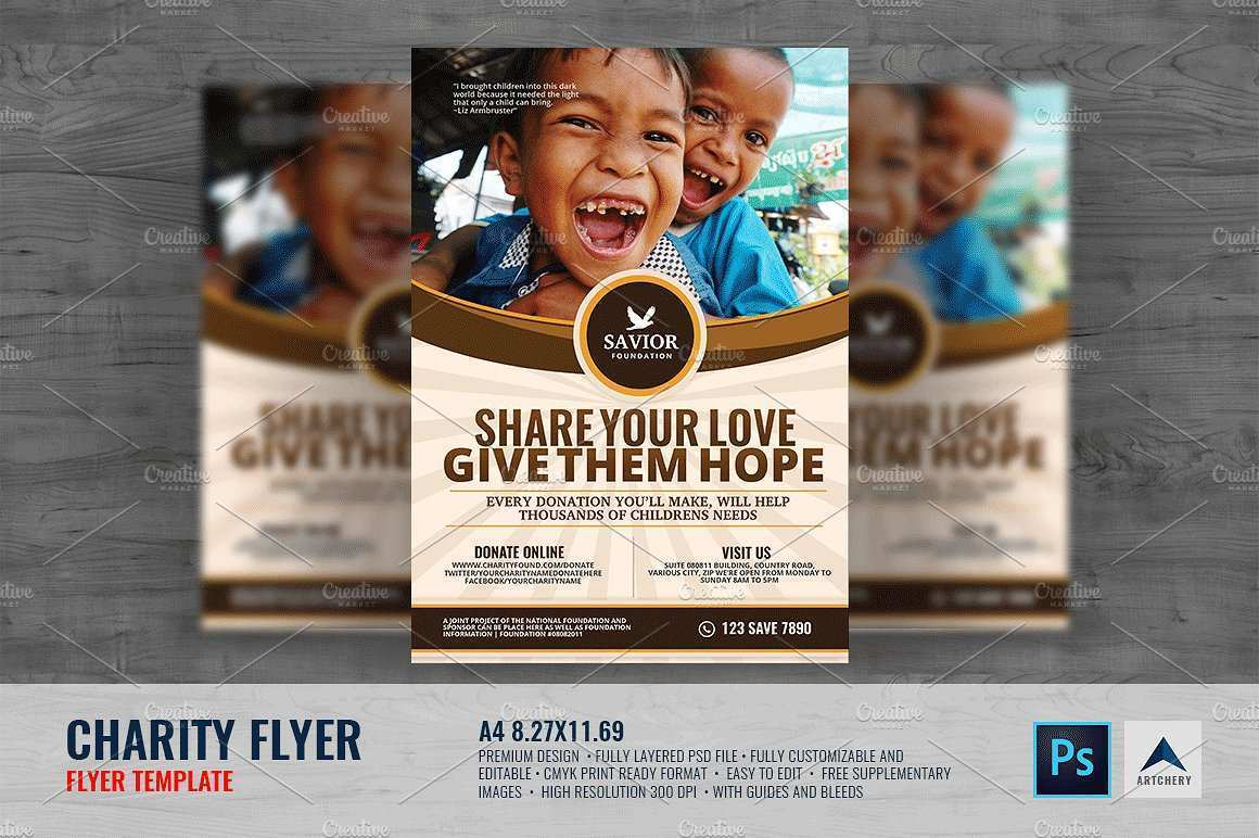 97 Creative Charity Flyer Template Now by Charity Flyer Template