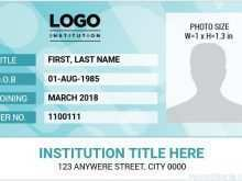 97 Creative Id Card Empty Template For Free by Id Card Empty Template