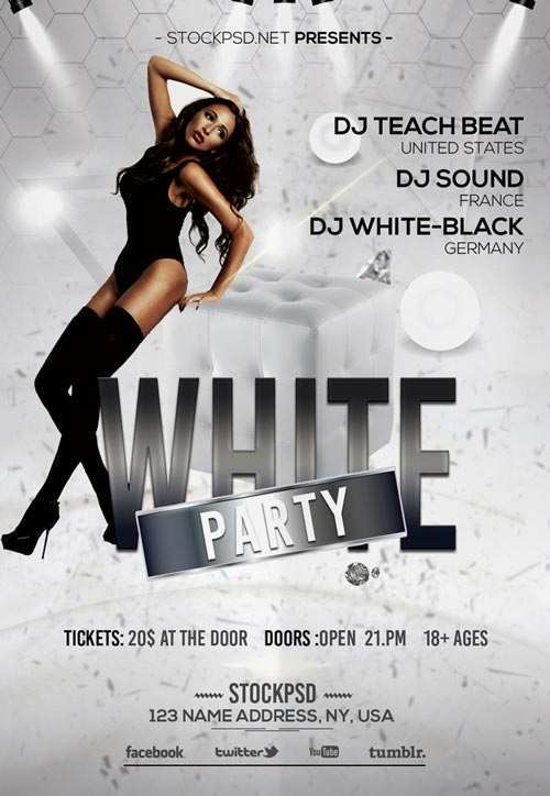 97 Customize All White Party Flyer Template Free For Free with All White Party Flyer Template Free
