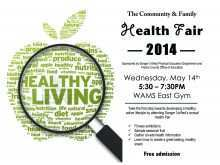 97 Customize Our Free Health Fair Flyer Template in Word for Health Fair Flyer Template