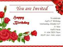97 Customize Our Free Invitation Card Format Of Birthday Photo by Invitation Card Format Of Birthday
