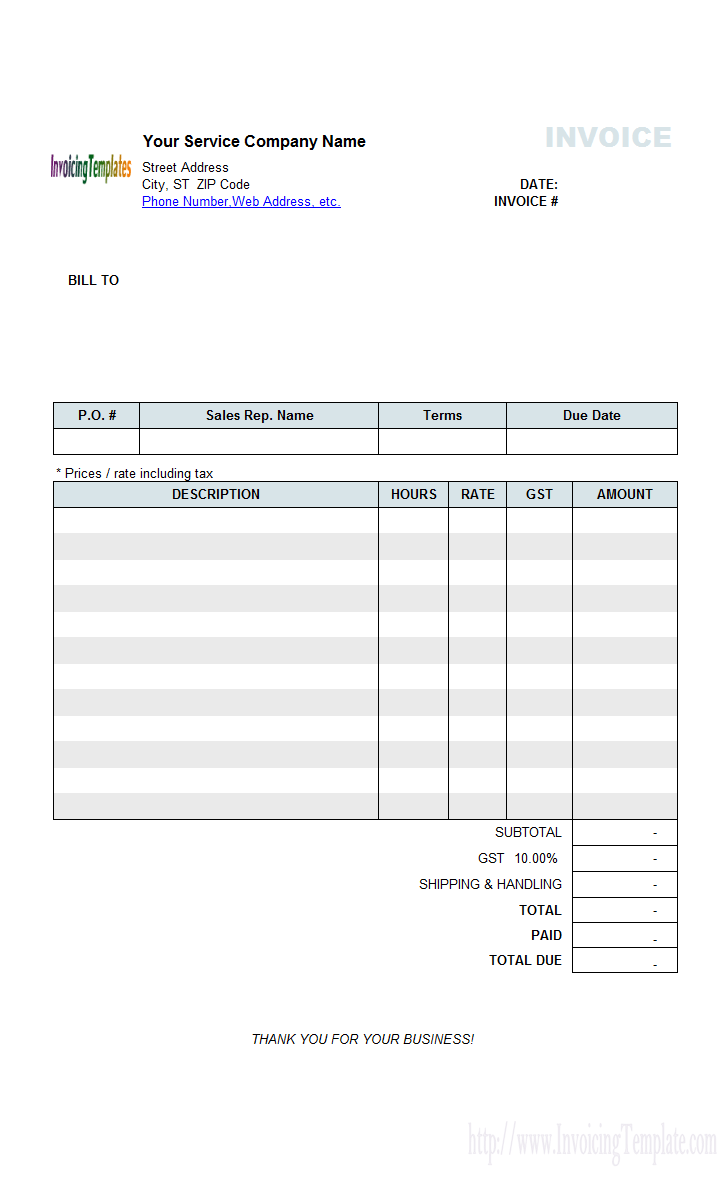 Freelance Translation Invoice Template Cards Design Templates