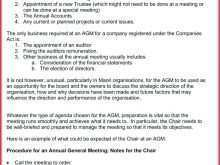 97 Free Printable Agenda Template For Agm in Word for Agenda Template For Agm