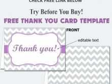 Thank You Card Template Word 2010