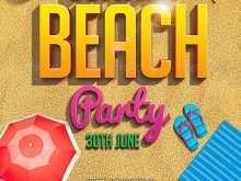 97 Online Beach Flyer Template Free With Stunning Design for Beach Flyer Template Free