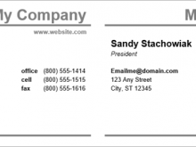97 Printable Business Card Template On Microsoft Word Maker by Business Card Template On Microsoft Word