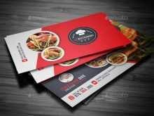 97 Printable Business Card Template Restaurant Now by Business Card Template Restaurant