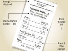 Vat Invoice Template For Uae