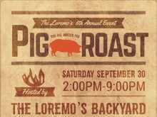 97 Report Pig Roast Flyer Template Free in Word for Pig Roast Flyer Template Free