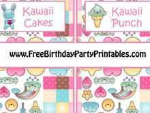 97 The Best Kawaii Birthday Card Template Formating with Kawaii Birthday Card Template
