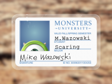 Monsters University Id Card Template