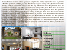 98 Apartment For Rent Flyer Template Maker for Apartment For Rent Flyer Template