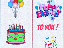 98 Best Happy Birthday Card Template A4 For Free for Happy Birthday Card Template A4