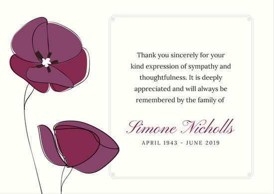 98 Best Thank You Card Template Funeral for Ms Word for Thank You Card Template Funeral
