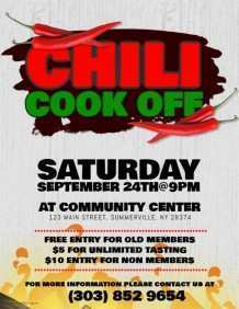 98 Blank Chili Cook Off Flyer Template Free Now by Chili Cook Off Flyer Template Free